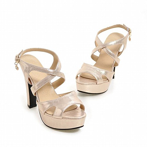 Heel Gold Strap Charm Ankle Womens High Fashion Foot Toe Sandals Buckle Open Fgqzx1BFw