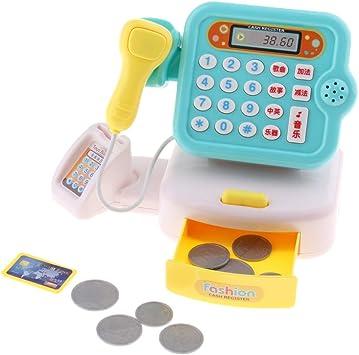 SM SunniMix Caja Registradora Juguetes Realista de la Compra Supermercado Juguete Y Recursos Didácticos Pretender, Tiendas Y Accesorios - Azul: Amazon.es: Juguetes y juegos