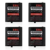 EBL Pack of 4 Motorola 53615 KEBT-071A KEBT-071-B KEBT-071-C KEBT-071-D Two-Way Radio Rechargeable Batteries 3.6V 1000mAh for Talkabout