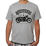 Decorshirt Men's Vincent Black Shadow Cool T Shirts Motorcycle Funny Tshirts