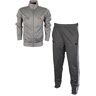 cea0ea3f1a ellesse Cervino Casse Polyester Funnel Neck Zip Frost Grey Tracksuit XXL:  Amazon.co.uk: Clothing