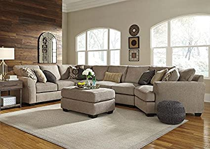 Savoy 4 Pc. Sectional With Al Sofa U0026 Cuddler Chaise LAF In Gray   Loveseat