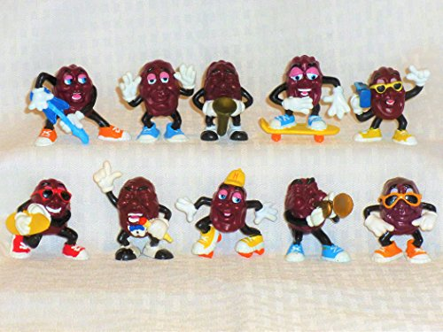 "Calrab Applause, California Raisins, PVC Figure - Set of Ten (10), 2"" Tall"
