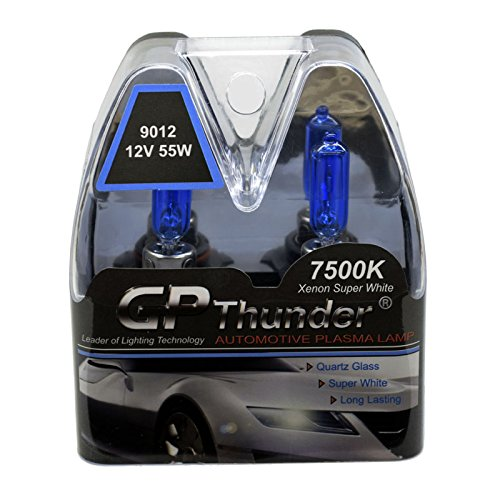 Amazon.com: GP Thunder SGP75-9012 Super White 7500K 55W HIR2 Xenon Quartz Light Bulb, (Pack of 2): Automotive
