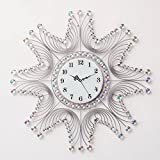 Creative Living Room Bedroom Decorated Wall Clock Crystal Wall Clock 20 Inch Silent Wall Clock