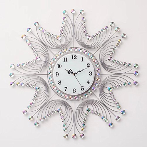 Creative Living Room Bedroom Decorated Wall Clock Crystal Wall Clock 20 Inch Silent Wall Clock by XZJT
