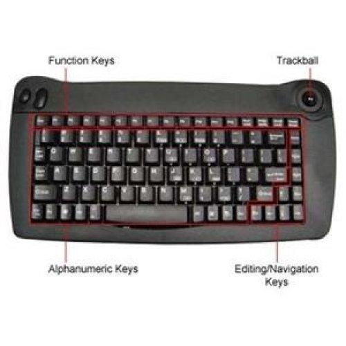 (Solidtek USB Mini Keyboard 88 Keys with Trackball Mouse KB-5010BU)