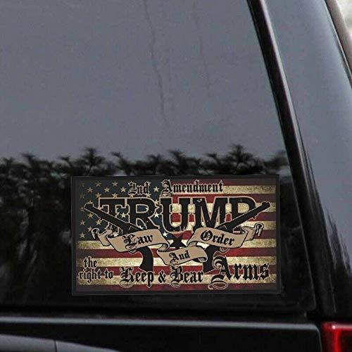 Law and Order 2nd Amendment Stickers Guns America Flag Donald Trump Stickers and Decals for Cars Trucks Bulk Goldenlight 15Pcs Trump Bumper Stickers All Aboard The Trump Train 2020