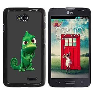 Paccase / SLIM PC / Aliminium Casa Carcasa Funda Case Cover para - Funny Tough Chameleon - LG Optimus L70 / LS620 / D325 / MS323