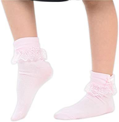Party Frill Socks UK Size Ladies Girls Frilly Lace Ankle Socks