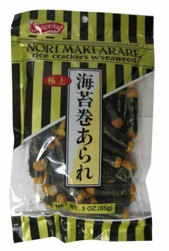 (Shirakiku Rice Cracker Norimaki Arare, 3-Ounce Unit (1 Pack) by Shirakiku)