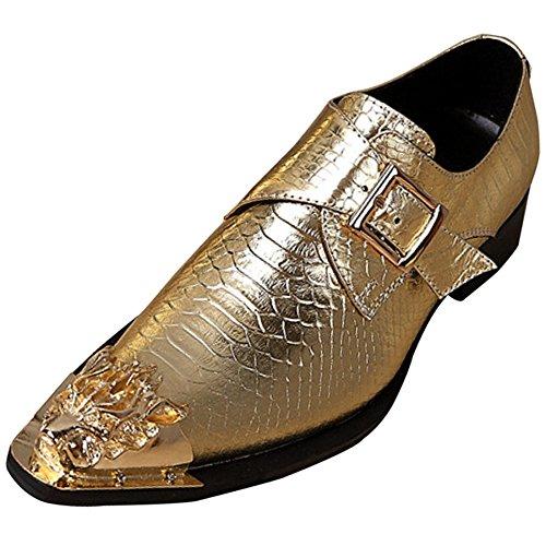 Herrenschuhe Barber Schuhe Persönlichkeit Mode Yellow
