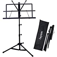Rayzm Stand/Atril para partituras plegable y portátil con bolsa de transporte, altura ajustable, Peso máximo 1.5Kg…