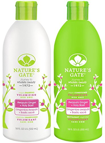 Nature's Gate Awapuhi Volumizing for Fine, Limp Hair, Duo Set Shampoo & Conditioner, 18 Oz Each Bottle (Shampoo Volumizing Conditioner)