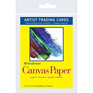 Strathmore Artist Trading Cards 2 1/2 in. x 3 1/2 in. 300 series Canvas paper Pack 10 cards
