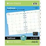 Day-Timer Refill 2018, Two Page Per Month, January 2018 - December 2018, 8-1/2'' x 11'', Loose Leaf, Folio Size, Classic (87329-1801)