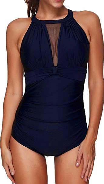 Donna Taglie Forti Costumi da Bagno Costume Intero Push Up Bikini Swimsuit One Piece Beachwear