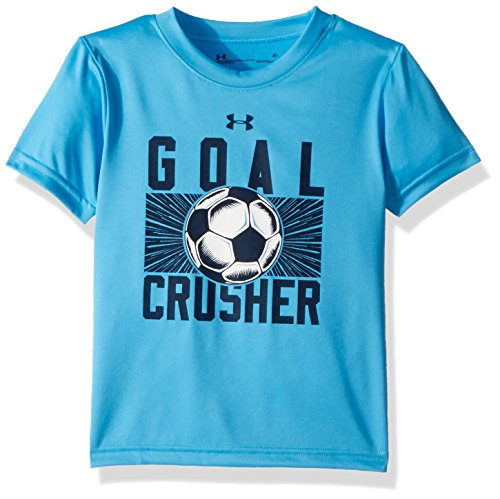 Under Armour Toddler Boys' Goal Crusher Short Sleeve T-Shirt, Canoe Blue, - Sleeve Short Crusher
