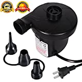 ZLOFADA Air Pump Electric Air Pump Portable Quick-Fill Inflator,Deflated Pump for Outdoor Camping, Inflatable Cushions, nflatable sofas, Air Mattress Beds, Boats, Swimming Ring (black)