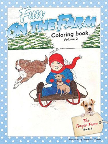 (Set of 6 Childrens Coloring Books Fun On The Farm Series Book 1 & 2)