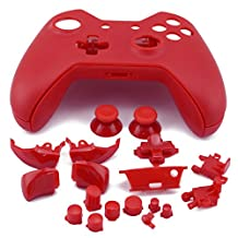 WPS Xbox One Replacement Controller Matte Case Shell for Xbox One ( Not 3.5 MM ) with T6 T8 Screwdriver (red)