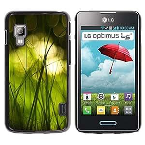 TopCaseStore / la caja del caucho duro de la cubierta de protección de la piel - Nature Beautiful Forrest Green 16 - LG Optimus L5 II Dual E455 E460