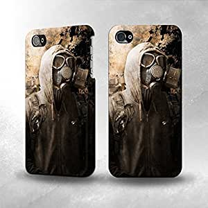 Apple iPhone 5 / 5S Case - The Best 3D Full Wrap iPhone Case - Gas Mask