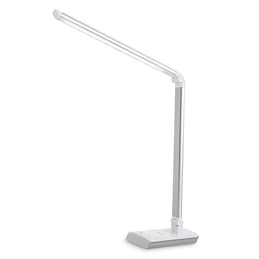 170 opinioni per Albrillo- Lampada da tavolo pieghevole 60 LED in argento satinato