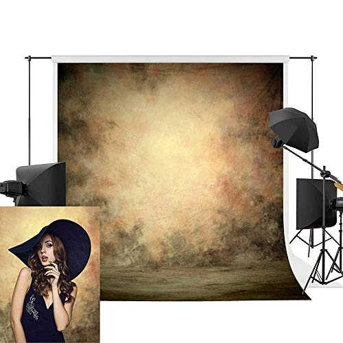 Professional Texture Photography Backdrop Allenjoy 5x7ft Old MasterVintage Yellow Oil-Painting Pattern Modern Backdrops Portrait Photography Decoration by Allenjoy