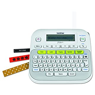 Brother P-touch, PTD210, Easy-to-Use Label Maker, One-Touch Keys, Multiple Font Styles, 27 User-Friendly Templates, White (B013DG2FNW) | Amazon Products