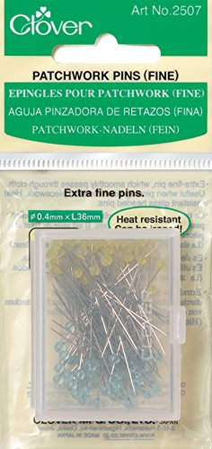 Clover Quilting Pins - Clover Q2507 Patchwork Pins-Fine, 100 Per Pack
