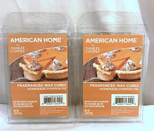 Yankee Tart Home Fragrance - Yankee Candle American Home New Fragrance Wax Cubes Tarts- Two Packs x 6pc- 2.6 oz Each Homemade Pumpkin PieScent