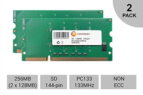 256MB 2 x 128MB SD Laptop Modules SDRam 133 Notebook 144p 144-pin Memory Ram Lot by CENTERNEX