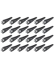 Stainless Steel Nail Clippers- 24-Pack Mini Fingernail Toenail Cutters Trimmers, Manicure Pedicure Accessories, Grooming Tools, Nail Care Tools for Travel, Home, Purse, 2.1 x 0.5 Inches
