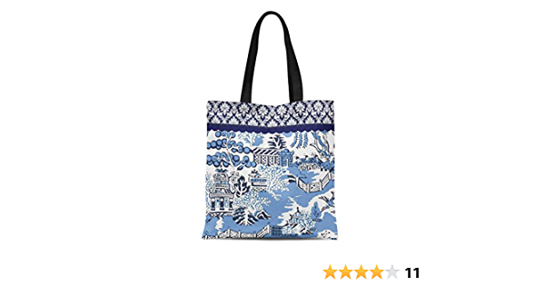 Lotus Culture China Pattern Tote Canvas Bag Shopping Satchel Casual Handbag