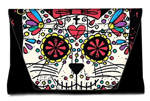 Skull Handbags Day Sugar Sugar Envelope Clutch Pattern Colorful Clutch Dead the of Female Fashion Bags25 Leather Bag with 0OwqnxCg
