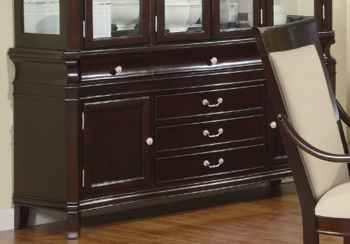 (Beverly Buffet with Drawer Storage in Merlot Cappuccino by Coaster)