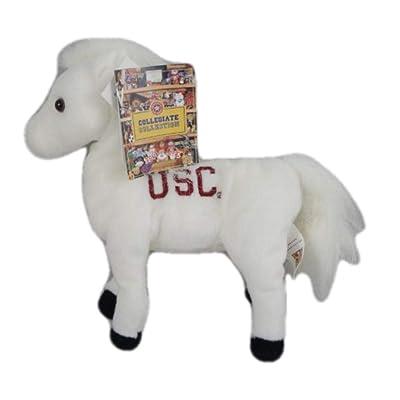 USC Trojans Bean Bag Traveler Mini Mascot Horse Plush 8'': Toys & Games