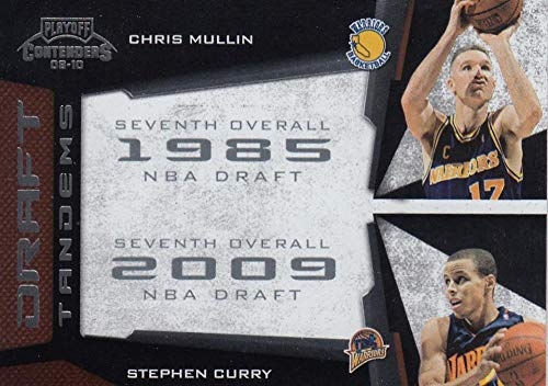 2009-10 Panini Contenders Draft Tandems Stephen Curry Chris Mullen #19 NM Near Mint RC Rookie