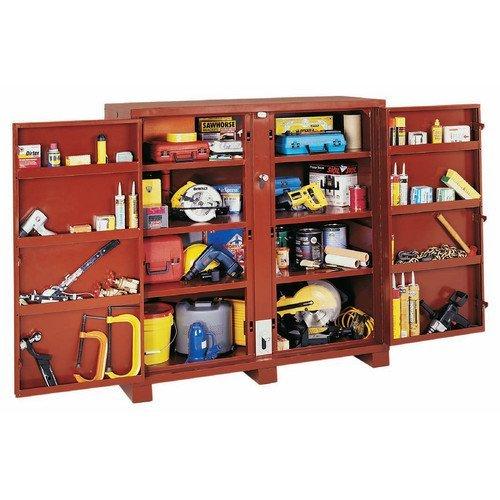 JOBOX 698990 Extra Heavy-Duty Deep 2-Door Utility Cabinet with Door Shelves