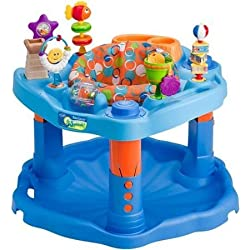 Evenflo ExerSaucer Activity Center, Mega Splash With Bright Colors And Many Varying Textures