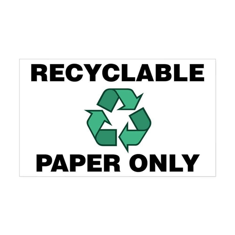 【50%OFF】 CafePress 03878025733C784 – ホワイト リサイクル可能用紙のみ( Small W/ Recycle Symbol )ステッカー – 長方形バンパーステッカー車デカールステッカー Small - 3x5 ホワイト 03878025733C784 Small - 3x5 ホワイト B00Q62EHVE, ヒガシヨドガワク:76db75c6 --- mvd.ee