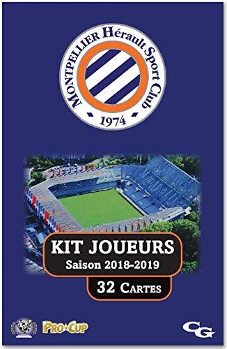 Procup - Kit Joueurs Football Montpellier Hérault SC Saison 2018-2019 Créacom Games