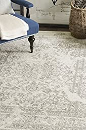 Safavieh Adirondack Collection ADR101B Ivory and Silver Oriental Vintage Area Rug (6\' x 9\')