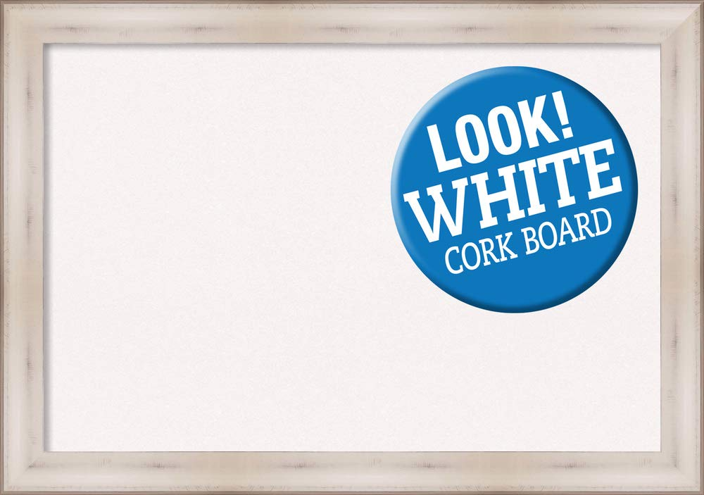 Amanti Art Cork Allure White Framed Bulletin Boards, Size 36x24 by Amanti Art (Image #1)