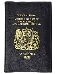 United Kingdom Passport Wallet Genuine Leather Passport holder with British Passport Emblem