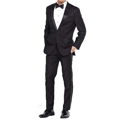 Douglas Grahame Men's Regular Fit Tuxedo (2 Button Tux Jacket & Pant) at Men's Clothing store