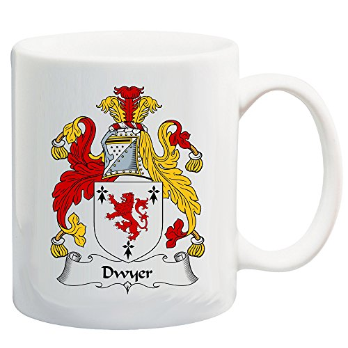Dwyer Coat of Arms/Dwyer Family Crest 11 Oz Ceramic Coffee/Cocoa Mug by Carpe Diem Designs, Made in the (Italian Family Crest)