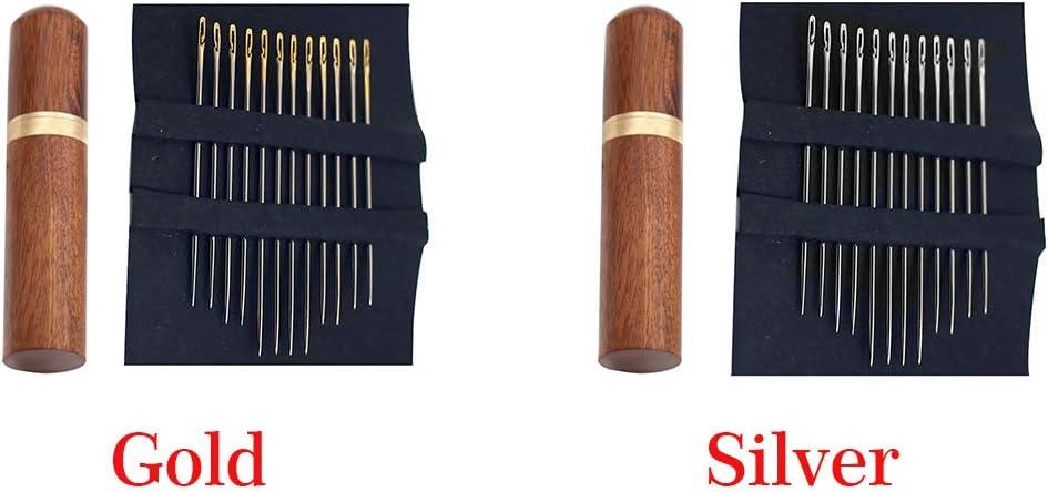 vap26 12pcs Edelstahl selbsteinf/ädelnde Nadeln Seiten/öffnung Stopfnadeln mit Stitching Needle Case Hand-N/ähnadeln Set