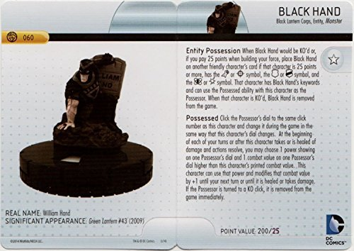 Heroclix DC War of Light #060 Black Hand Figure Complete with Character Card by Neca